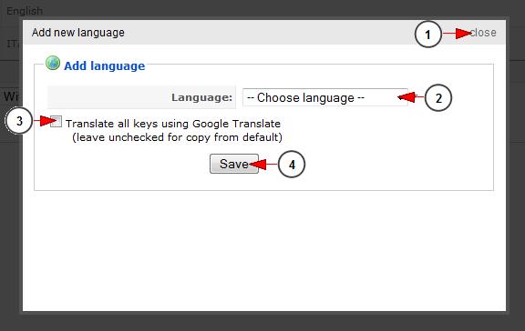 add new website language