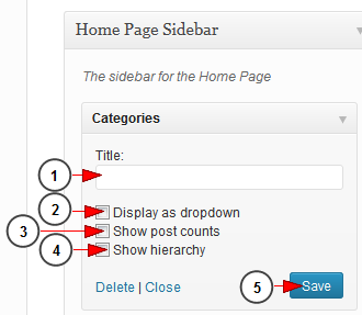 categories widget wordpress blog