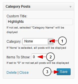 activate wordpress widget category post