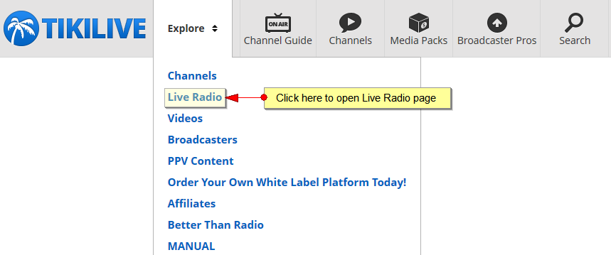 live streaming radio channels