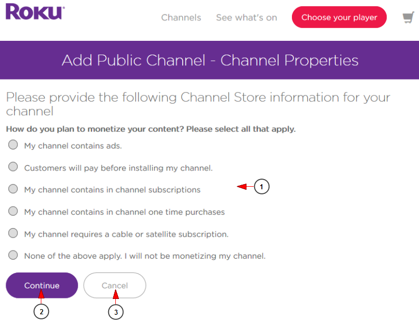 Create and publish a public channel on Roku – Module | Live