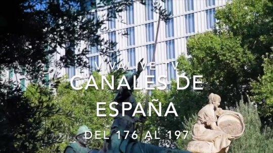 España con musica voz y letrero